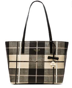 Kate Spade Fall plaid tote bag