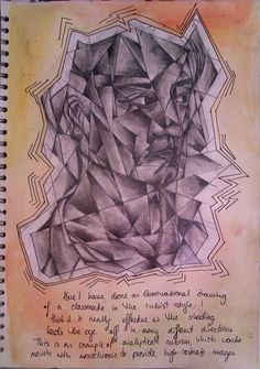 Cubism study for GCSE Art 'Order and 'Disorder'