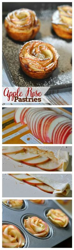 Pin Ups and Link Love: Apple Rose Pastries| knittedbliss.com