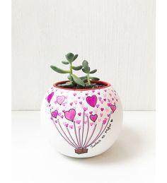 Maceta decorada artesanal! El regalo ideal para tu pareja <3