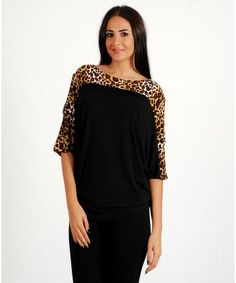Woman's Stylish Beige Animal Print Open ShouldersTop - APPAREL  Find More: http://www.imaddictedtoyou.com/