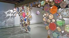 Kirsten Hassenfeld-love how the light shines through this installation and creates interesting shadows on the walls and floors-reminds me of real stained glass Led Lampe, Objet D'art, Art Plastique, Installation Art, Decoration, Art Lessons, Paper Art, Vellum Paper, Stained Glass