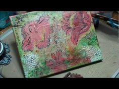 From start to finish......video of mixed media on canvas by Peggy at May Arts Ribbon.