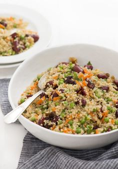 90 grams of whole grains a day and help you live longer. Get in a serving or two with this quinoa salad that is a perfect addition to your holiday table.