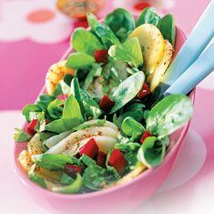 Recette diététique : salade verte poire et betterave