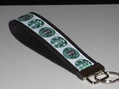 Starbucks Coffee Key Fob Wristlet by OnceDesignedbyDianne on Etsy