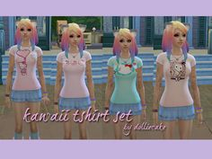 dolliecake's Kawaii Tshirt Pack – Sims 4 Updates -♦- Sims 4 Finds & Sims 4 Must Haves -♦- Free Sims 4 Downloads