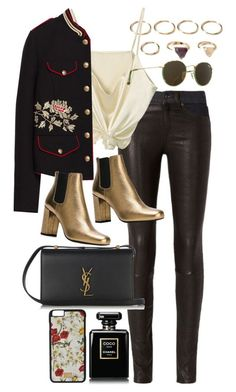 """""""Untitled #9736"""" by nikka-phillips ❤ liked on Polyvore featuring Forever 21, rag & bone, Chanel, Yves Saint Laurent, Dolce&Gabbana and Ray-Ban"""