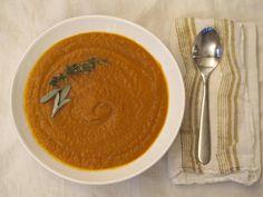 The Warmest, Most Delicious Carrot-Ginger Soup Ever #fromtheathleteskitchen #roastedcarrots #carrotsoup