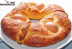 Mona de Pascua Bread Recipes, Cooking Recipes, Pan Dulce, Nice Cream, Spanish Food, Artisan Bread, Boiled Eggs, Sweet Bread, Bagel