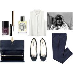 white sleeveless blouse and ballet flats
