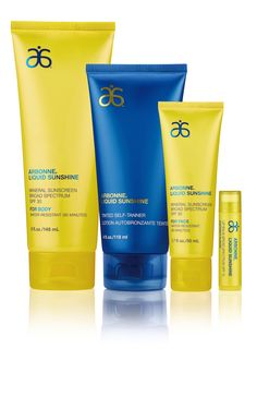 ****New Product Alert**** Liquid Sunshine ☀️☀☀️ Spf 30 for face, Spf 30 for body, Spf 15 lipbalm & tinted self tanner ☀️☀️☀️ www.kimberlyhill.arbonne.com