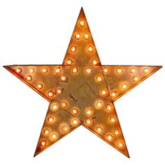 Giant Lighted Flashing Star Sign, circa 1955 | From a unique collection of antique and modern signs at https://www.1stdibs.com/furniture/folk-art/signs/
