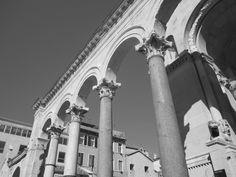 Corinthian pillar in Diocletian palace Split, Croatia