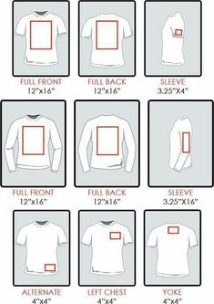 Where to place vinyl on shirts