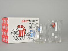 Lisa Larson|つよいこグラス MIKEY/BABY MIKEY