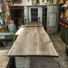 14' Canadian Black Walnit live edge conference table just about ready to be glued up!