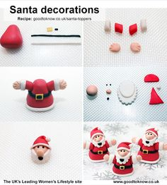 Cute Santa Cupcake decorations to try this year!