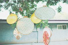 embroidery hoops decor // photo by CamiTakesPhotos.com
