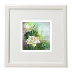 Water Lily. Original oil painting. Home Decor. Decor for shelves and desk . Fine art. Beautiful flower. by MikaArtstore on Etsy