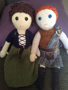 A knitted version of Outlander's Jamie & Claire. A friend suggested this project and I can't NOT do it, right? Step 1 has been completed: Kilt fabric ordered fr.
