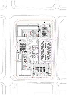 gmp Designs New Headquarters for CNPEC in Shenzhen, China,First Floor Plan 1:750