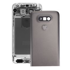 [$12.76] iPartsBuy for LG G5 Metal Back Cover with Back Camera Lens & Fingerprint Button(Grey)