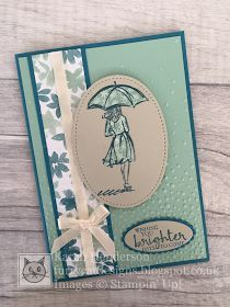 Welcome back for another card from my collection using the Beautiful You stamps from Stampin' Up! This version shows you another way to add...
