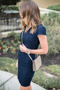 Denim Dress - Cherri: Cute but prefer at or below knee length
