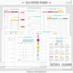 Rainbow Planner kit from Miss Tina