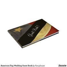 American Flag Wedding or reunion / 4th  Guest Book
