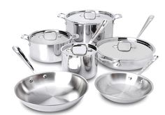 All Clad Stainless Tri Ply 10 Piece Cookware Set w/ Casserole
