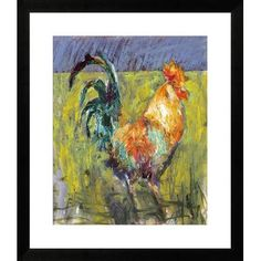 Gallery Direct Cockerel by St. John Framed Painting Print Size: