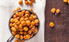 Roasted Chickpeas Recipe with Nacho Seasoning - low carb