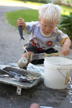Painting the Driveway Water Activity