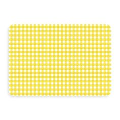 The super-cheery yellow gingham on this mat will add a touch of sunshine to your indoor or outdoor area. It'll serve as a no-slip spot, and cushioning for wet, tired or cold feet.