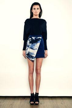 Step Up - Kimonowa bluzka z marszczeniami- kimonowa - Czarna