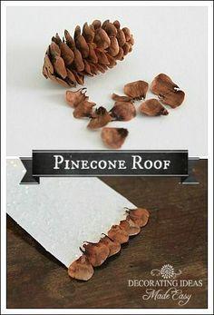 Dach aus Pinienzapfen