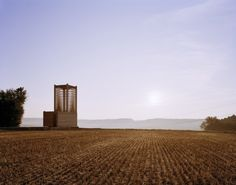 field chapel in boedigheim by students of the college of architecture at the illinois institute of technology. GERMANY.