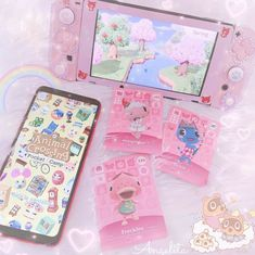 Pink Aesthetic, Aesthetic Anime, Kawaii Games, Tres Belle Photo, Nintendo Switch Accessories, Computer Accessories, Kawaii Bedroom, Otaku Room, Gaming Room Setup