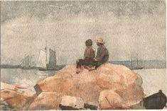 Winslow Homer - Two boys watching schooners.jpg