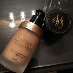 Too faced born this way foundation it's a light to medium coverage light weight it has a pump for easy application you can find this product as the Sephora, Sephora.com or Ulta Beauty stores ultabeauty.com or the Too Face website I recommend going in storage for swatches and color matching if you like to learn more check on my foundation shelves in my Snupps closet