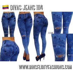 Colombian Jeans, DIVAS JEANS 1114 Ripped Medium Blue Skinny Jean #DIVASJEANS…