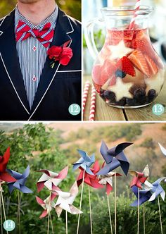 Patriotic Wedding Inspiration, Red, White & Blue, Americana Party Inspiration, Fourth of July Wedding