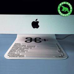 iMac Shortcuts vinyl sticker - you can never forget!