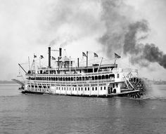 New Orleans Steamboat Sternwheeler by SilverbanksPictures on Etsy, $6.00
