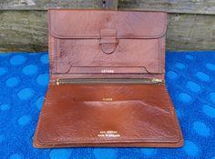 Mens Vintage Tan Leather Wallet Drivers Motorists & Money Pocket Organiser Desig in Clothes, Shoes & Accessories, Men's…