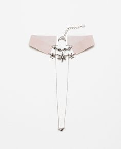 GEM AND LEATHER CHOKER-View All-ACCESSORIES-WOMAN | ZARA United States