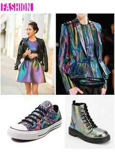 Flamingos + Fringe Blog Oil Slick Fashion - Jacket - Dress - Chuck Taylor All Stars - Combat Boots -