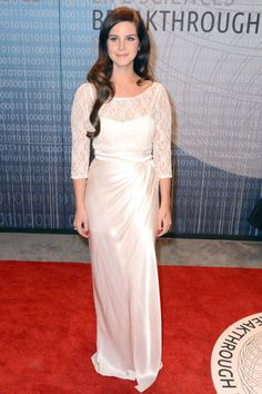 Del Rey is utterly angelic in white lace at the Breakthrough Prize in Life Sciences Awards in 2013.